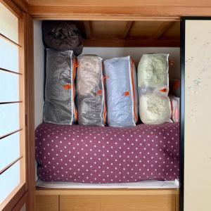 【50代押し入れ収納】今の暮らしに合わせて寝具を見直してます