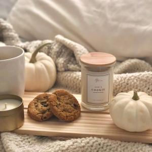 クッキーの香りがするキャンドル。