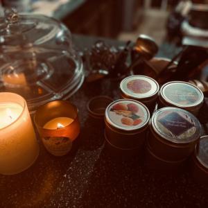 キャンドルの香りの組み合わせ。