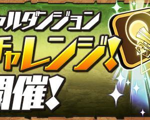 【パズドラ】制限時間10分の闘技場3「週末チャレンジ」スタート!