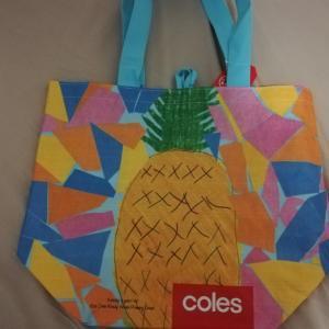 Colesのエコバックとオーストラリアの3連休