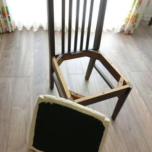 DIYでダイニングチェアの座面の張り替え