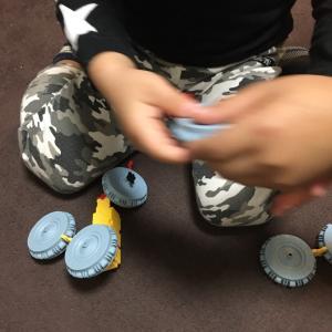 【 4歳 LaQでベイブレード 】創造力を育てる知育玩具