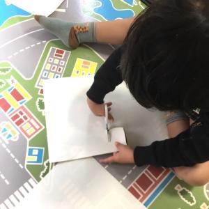 【 4歳 ロボット工作とお絵かき 一人遊び 】