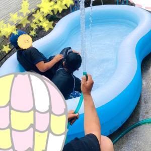 【 5歳 大きいお家プールで練習 】潜れる様になった