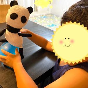 【 手作り 軍手で パンダぬいぐるみ 】小5 縫う宿題