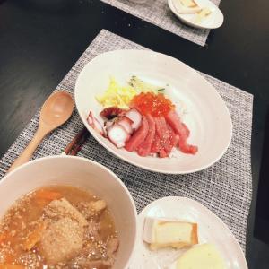 海鮮丼とステーキ丼