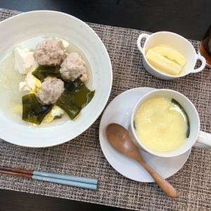 朝ご飯は肉団子の春雨スープ