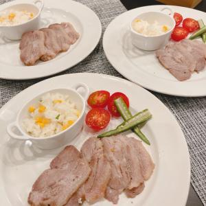 豚ロース塊肉で塩釜焼き/お気に入りの夏のサンダル