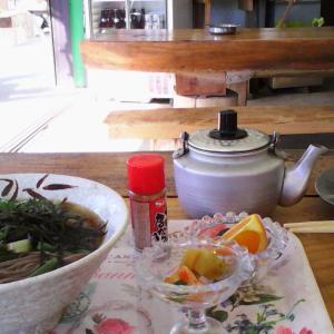 旅先で孤独にグルメの記録(3)・山梨・昇仙峡山頂の山菜蕎麦(日月荘)