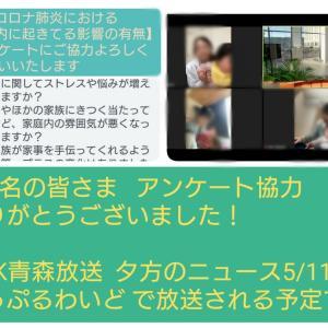 アンケート協力のお礼と5/11(月)テレビ放送のご報告