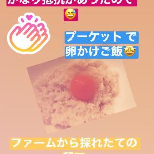 タイで生卵を食す!