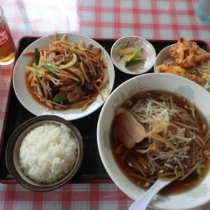 #昇龍閣 #レバニラ炒め定食