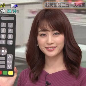 【画像】新井恵理那アナのニットおっぱいデッケエえええwwww
