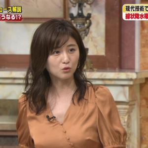 【画像】テレ朝で宇賀なつみアナの巨乳がハッキリ!