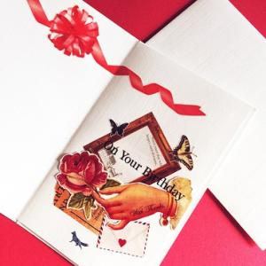 バースディカードと折り紙ポケット