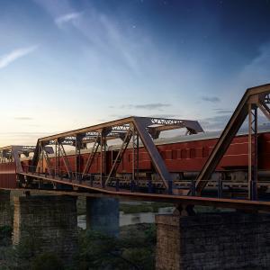 橋の上のトレインホテル -Kruger Shalatiー