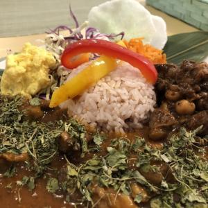 山猫カレーとずりとヒヨコ豆のカレー