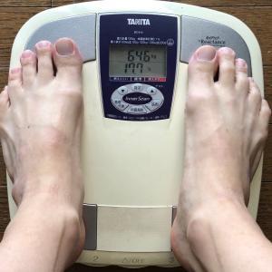 リバウンド?今朝の体重です