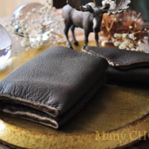 やみつきエルクの・コンパクト2つ折り財布とキーケース・時を刻む革小物
