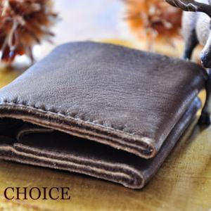 やみつきエルクの・コンパクト2つ折り財布・時を刻む革小物