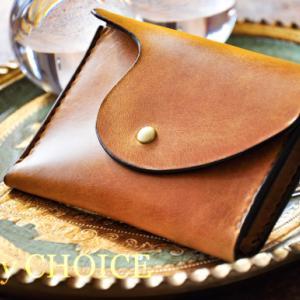 イタリアンヴィンテージバケッタ・ミニマム財布・時を刻む革小物