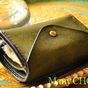 イタリアンレザー・プエブロ・2つ折りコインキャッチャー財布オリーバ・時を刻む革小物