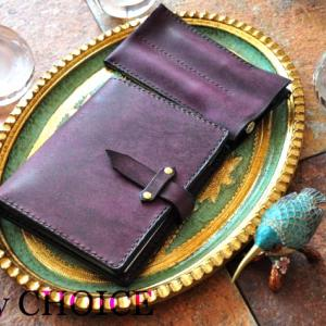 イタリアンレザー・プエブロ・ロディアメモ帳カバーと2本差しペンケース・時を刻む革小物