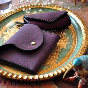 イタリアンレザー・プエブロ・ミニマム財布とキーケース・時を刻む革小物