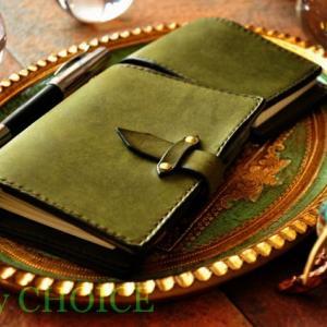 イタリアンレザー・プエブロ・システム手帳とロディアメモ帳カバー・時を刻む革小物