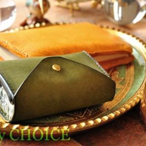 セミオーダー・プエブロコンパクトキー財布とエルクのブックカバー