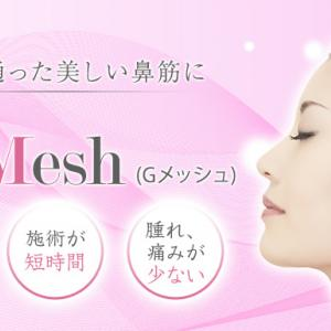 鼻のG-mesh後の修正
