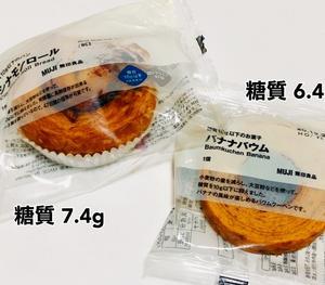無印良品・糖質10g以下のパン・お菓子