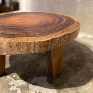 一枚板 テーブルと座卓 モンキーポット