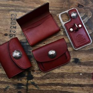 統一感があるのが素敵。Tさまオーダー コインケース、お財布、名刺入れ、スマホケース