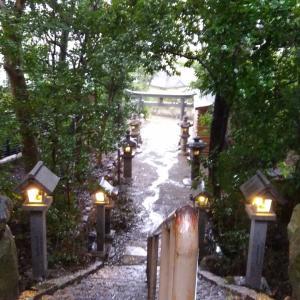 「小さなお宮」で雨の精霊達と遊びました。