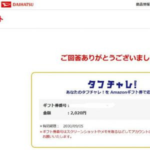 キタ━(゚∀゚)━! Amazonギフト券