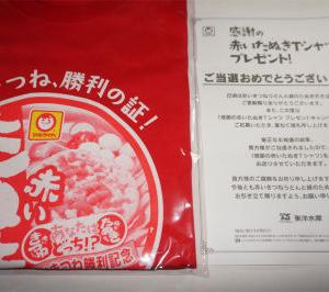 【当たった!】 赤いたぬきTシャツ