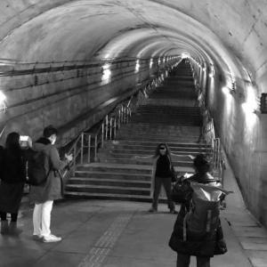 土合駅 構内トンネル