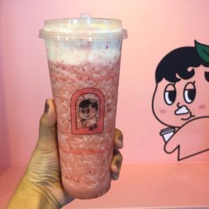 苺ティー+クリーム=ストロベリーチーズケーキ味?!ピンクでラブリーな「抿茶 min cha」