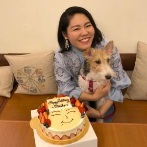 好朋友とお祝い♪ 誕生日ケーキも「La vie bonbon」で!@中山国小
