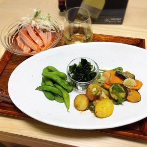 野菜プレートとカルパッチョ