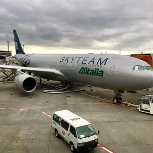 IL VOLO ALITALIA 787 台風一過 アリタリアで今年3度めのミラノへ!