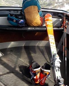 ようやく春スキースタイル!
