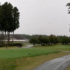 雨の太平洋クラブ御殿場ウエストです。