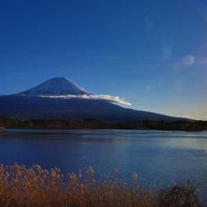 田貫湖と富士山