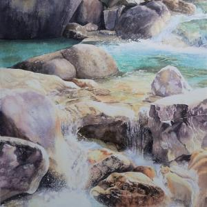 輝く渓流の過程