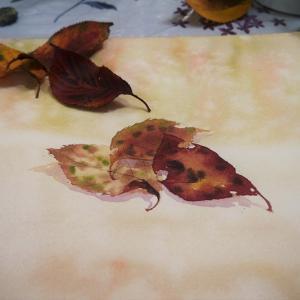 やさしい落ち葉の描き方の過程