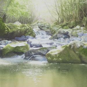 啓子おばさんの水彩レッスンⅣ渓流の描き方とお知らせ