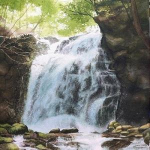 久しぶりの大滝の絵